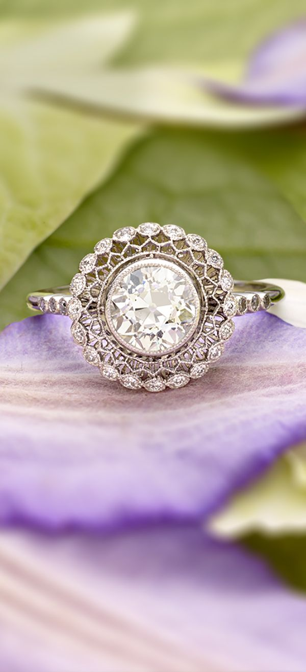 A gorgeous halo ring.