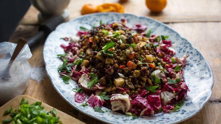 Lentil Salad With Roasted Vegetables by Melissa Clark ... I love her recipes. She can visit Bella Vista anytime.