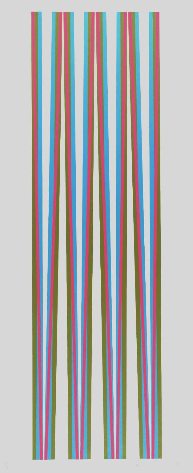 Color lines online strip game - Bridget Riley Elongated Triangles 5 1971