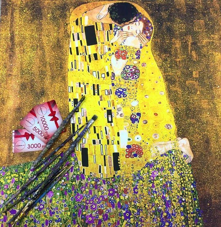 """Чувственная картина Густава Климта """"Поцелуй"""" завораживает всех посетителей Галереи Бельведер, которая расположена в Вене 🏰✈️ 😔 Мы убеждены, что Искусство должно быть доступно каждому! Именно поэтому, мы с радостью изготовим для Вас репродукцию этого шедевра со скидкой 46% 🎁 🎨🖼 ⠀⠀⠀⠀⠀⠀⠀⠀⠀⠀⠀⠀⠀⠀⠀⠀⠀⠀⠀⠀⠀⠀⠀⠀⠀⠀⠀⠀ ✨так же мы предлагаем сертификаты номиналом: ⠀⠀⠀⠀⠀⠀⠀⠀⠀ 🎁3.000 руб 🎁5.000 руб 🎁10.000 руб #modulka.ru #модульныекартины #постеры #печатьнахолсте #картинынахолсте…"""