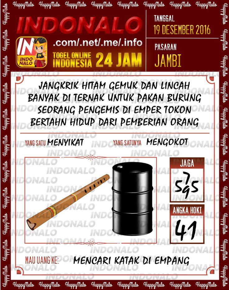 Undian Lotre 3D Togel Wap Online Live Draw 4D Indonalo Jambi 19 Desember 2016