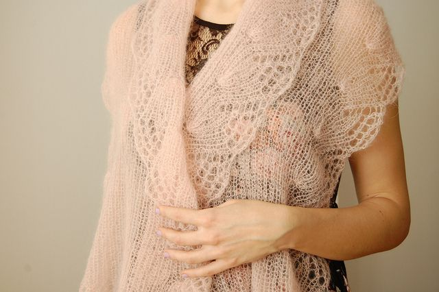 parasol stole - laceweight by this lyre lark