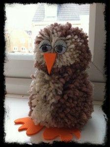 Pom pom owl Pinned by www.myowlbarn.com
