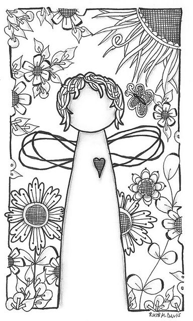 Garden Angel by Ruth Davis, via Flickr