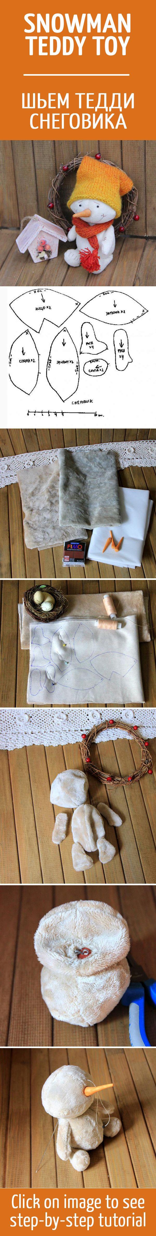 Шьем игрушку Тедди Снеговика / Snowman Teddy toy tutorial