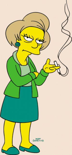 Oh, Edna, you were such a very heavy smoker...