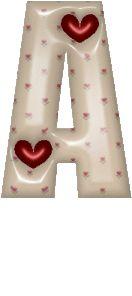 Oh my Alfabetos!: Alfabeto con corazones y corazoncitos.