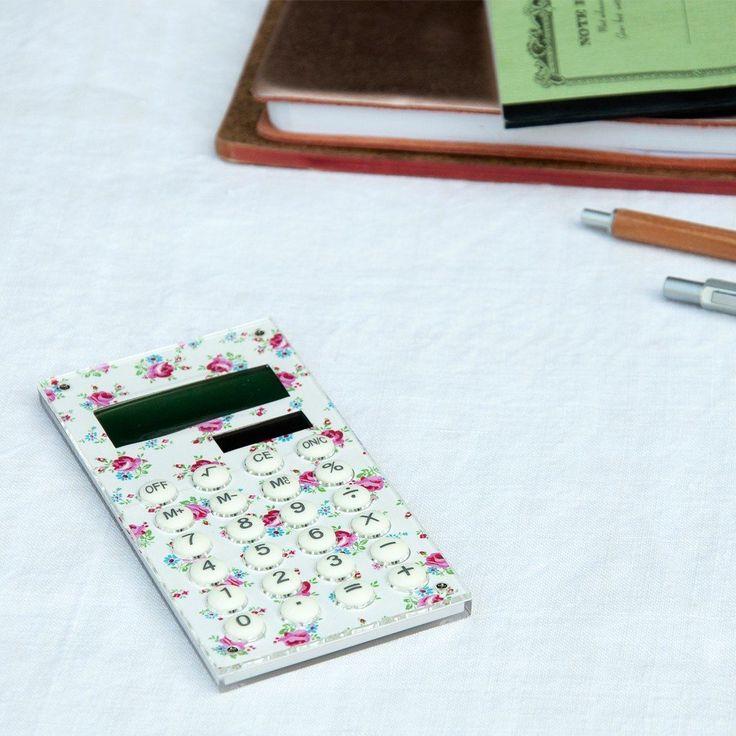 La Petite Rose Solar Calculator | dotcomgiftshop | Winter Sale Now On