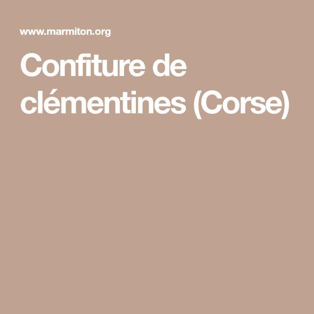 Confiture de clémentines (Corse)