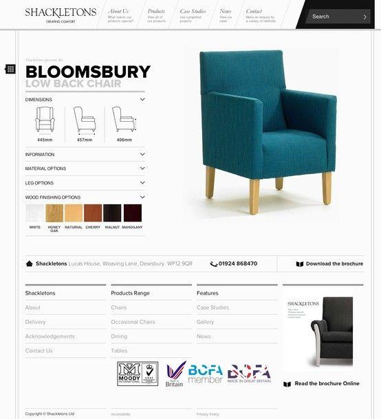Product page / design / webdesign / shackletons