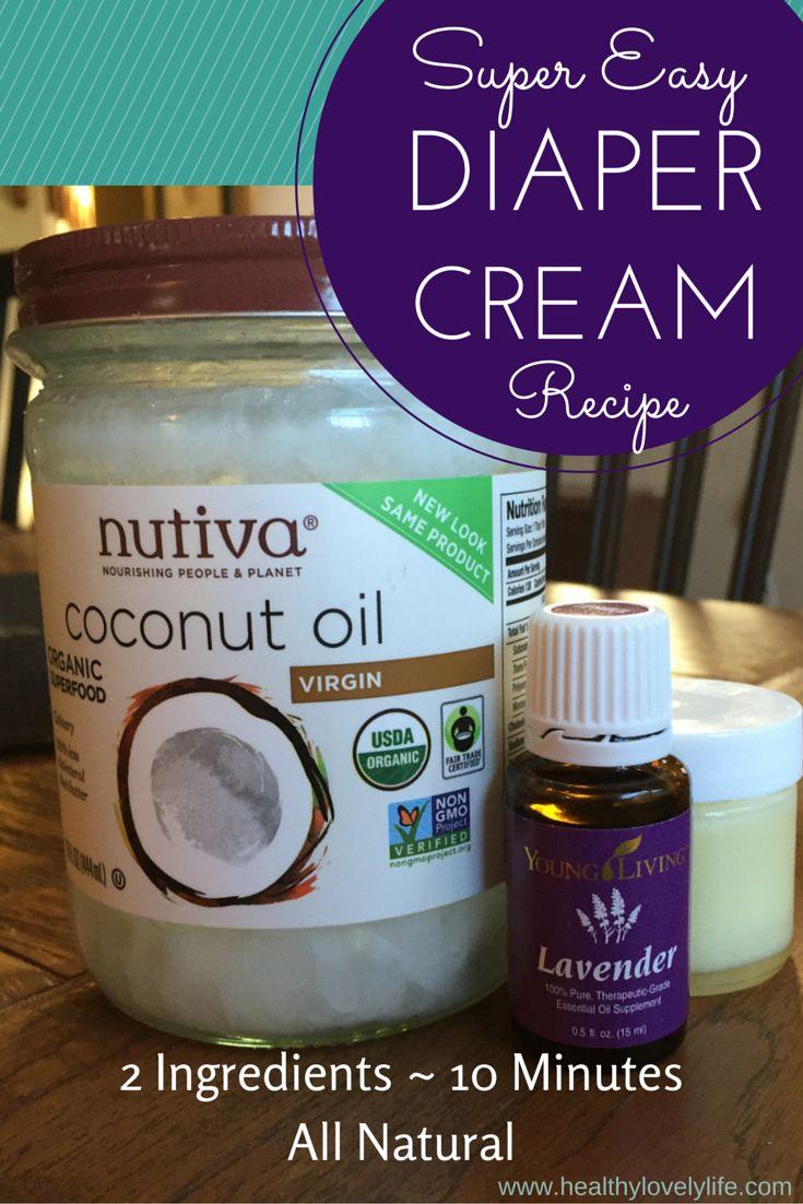 Super easy diaper cream recipe! 10 minutes, 2 ingredients, works beautifully.