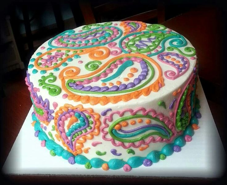 Paisley Mehndi Cake : Best paisley cakes images petit fours beautiful