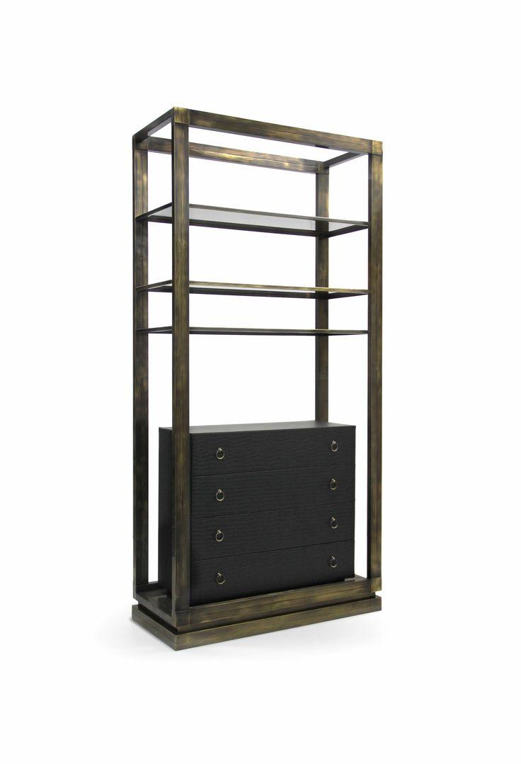 HOPLON | Antique Brass Bookcase by BRABBU