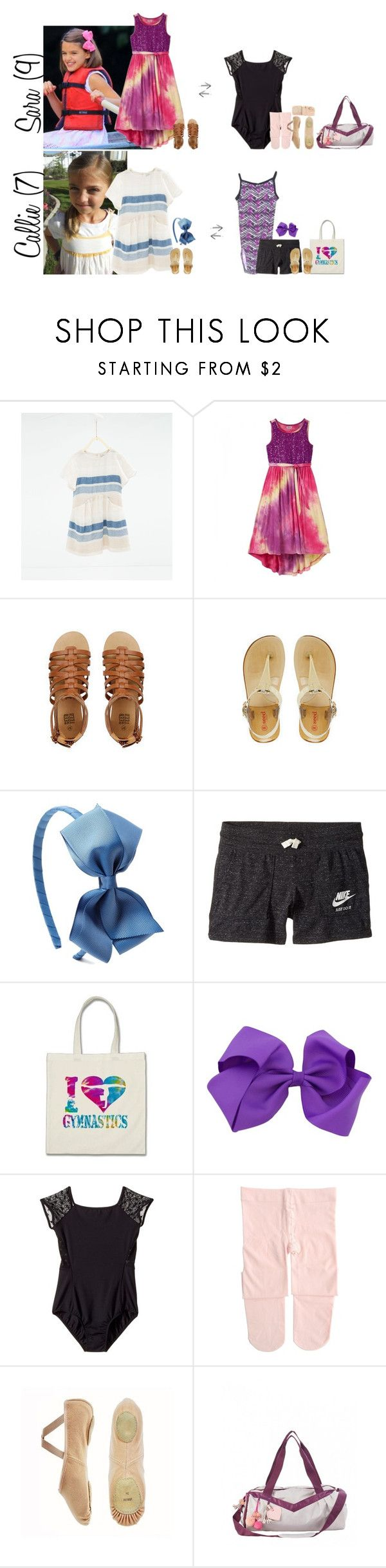 """""""Monday // Sam's Cast Comes Off & Activities // 6.26.17"""" by graywolf145 ❤ liked on Polyvore featuring Zara, NIKE, Bloch, Capezio and GrayWolfFamily"""