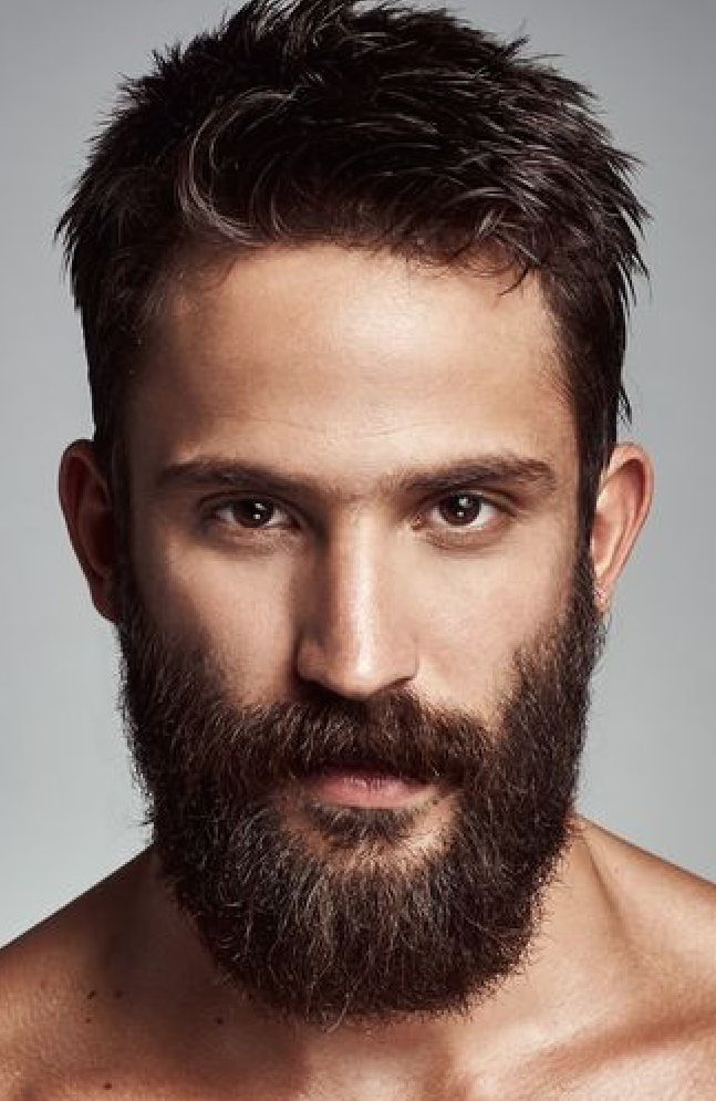 Mens Hairstyles With Beards slicked back hair and beard men Beards