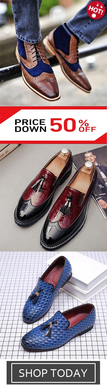 Men's fashion Dress Oxford Shoes Handmade Casu…