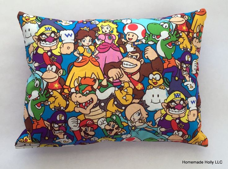 Nintendo Throw Pillow by HomemadeHolly25 on Etsy