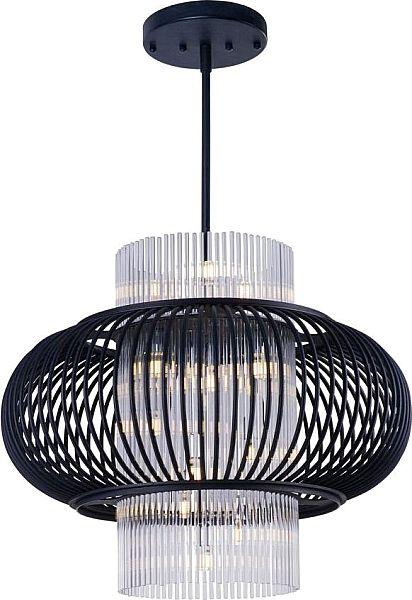 13 Light LED Bulb Large Pendant - Anthracite