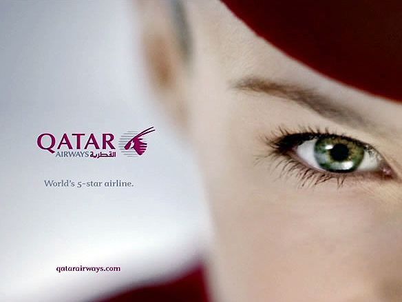 Qatar promotes itself as the World's 5 Star Airline