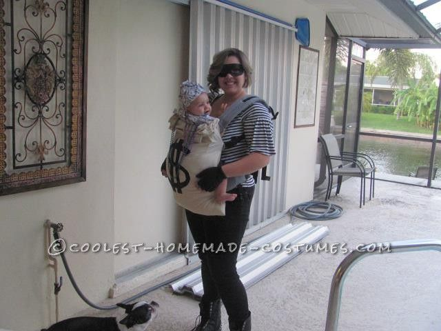 Cheap Mom and Baby Robber and Moneybag Costume... This website is the Pinterest of costumes