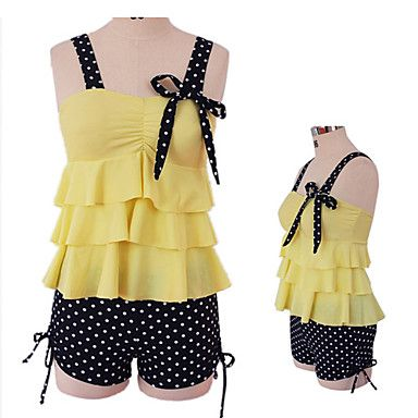 Women's Two-piece Cute Layered Bow Swimsuit $32.00