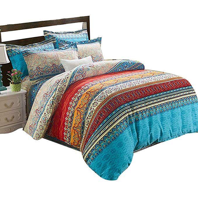 Alicemall 4 Teilig Idyllisch Bettwasche Set Bettbezug 240 Cm X 220