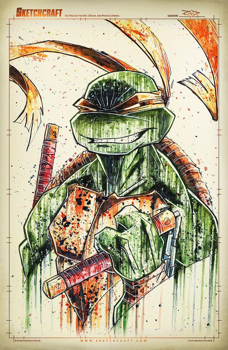 Teenage Mutant Ninja Turtles - Michelangelo by Rob Duenas