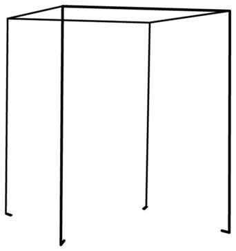 Iron Four Poster Freestanding Bed Canopy, Black, Twin contemporary-bed-accessories