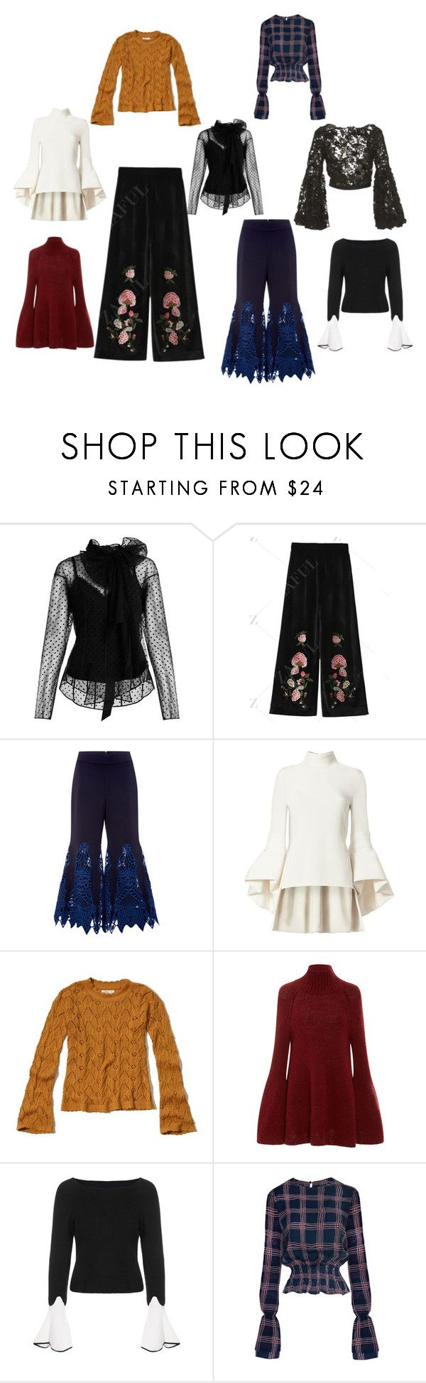 """70s"" by stapleluc on Polyvore featuring Marc Jacobs, Jonathan Simkhai, Brandon Maxwell, Hollister Co., Rosetta Getty and Johanna Ortiz"