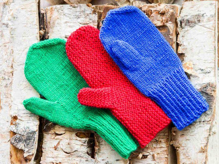 Neulotut lapaset – kolme perusohjetta - Neuleohjeet ja askartelu. Knitting mittens and their thumbs.