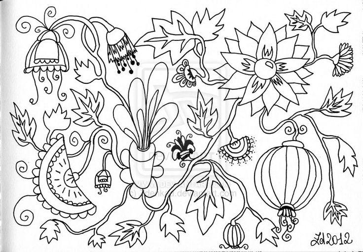 Jacobean flowers by Zdenkad.deviantart.com on @deviantART