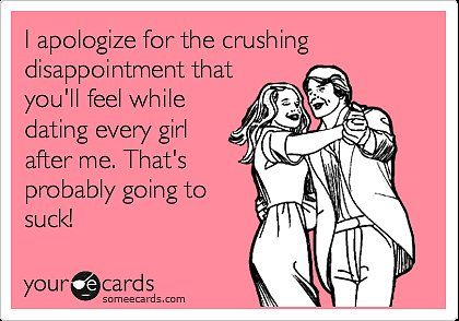 I apologize for the crushing disappointment that you'll feel while