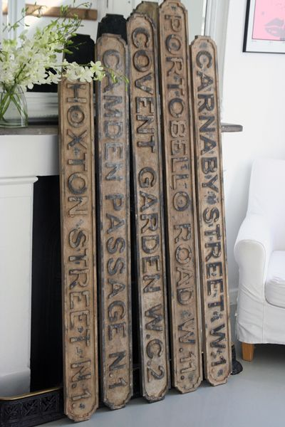 Vintaged Wooden London Street Signs.. #vintage #sign #london pinned by wickerparadise.com
