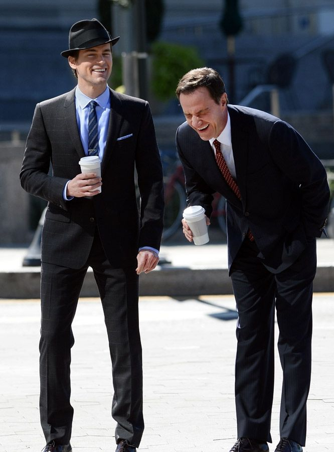 You see these two laughing so hard, and you wonder what it's like on set of White Collar!!