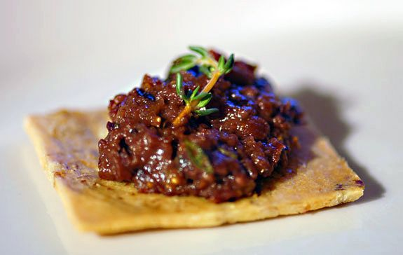 Fig Tapenade with Walnut Crackers on http://www.elanaspantry.com