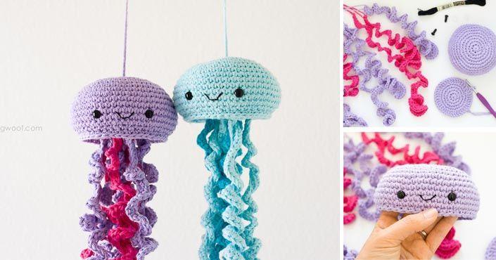 DIY nápad na rozkošné háčkované medúzy, ktoré si deti rozhodne obľúbia. Inšpirujte sa!