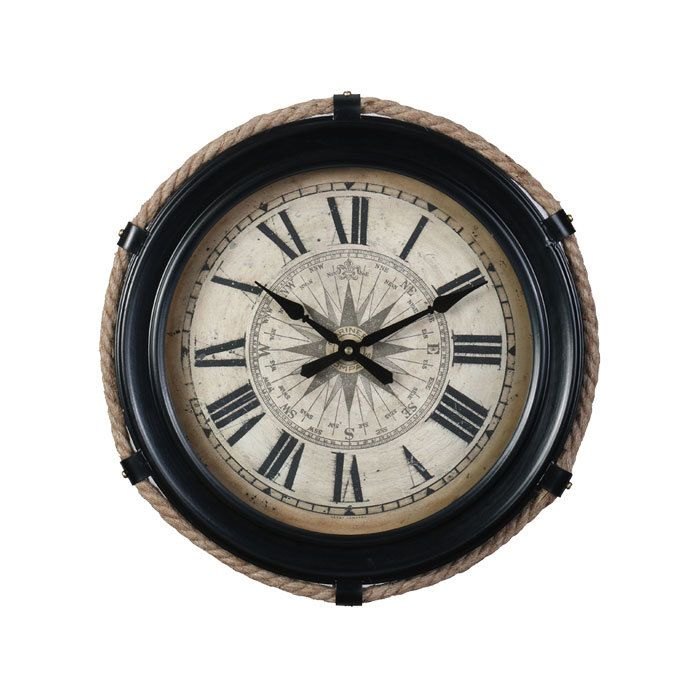 Compass Clock Small Black Pendulux With Images Compass Clock