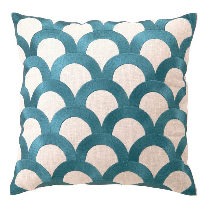 scales pillow in teal - Decorative Pillows Cheap