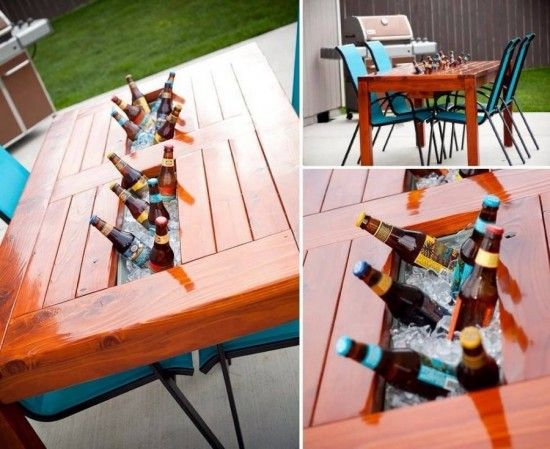 Beer and Wine Cooler Table