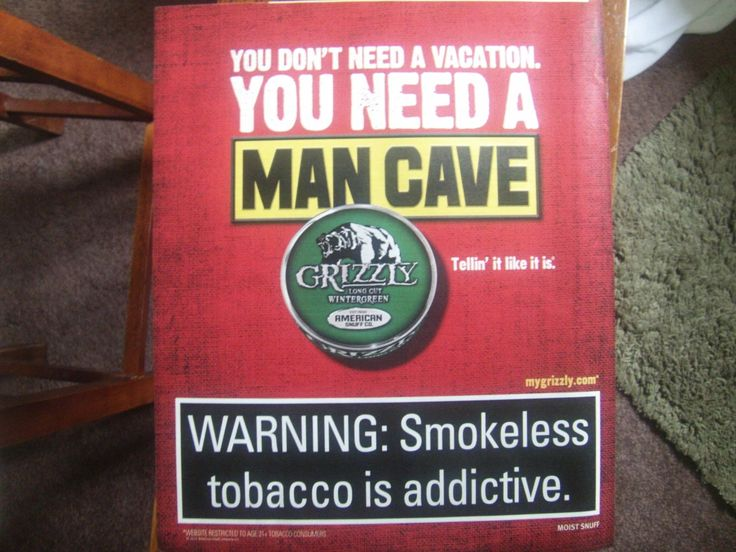 Grizzly Chewing Tobacco Magazine AD -You Need A Man Cave.  why don't you discover ivanhoe.ecrater.com. the ebay alternative for great deals