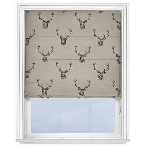 Fryetts Stag Grey Roman Blind