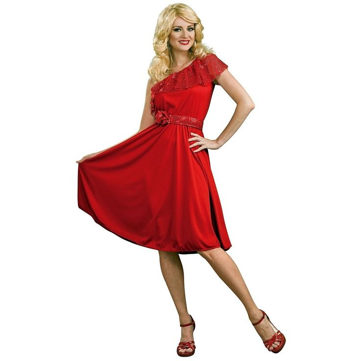 cool Disco Dynamite Adult Womens Red Saturday Night Fever Dress 70s Halloween Costume Check more at