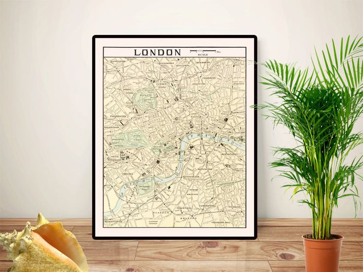 London map art,  London City Street Map, London art, London old map UK poster, Educational poster, Geography classroom decor,Printable 16x20 by GBPrintable on Etsy