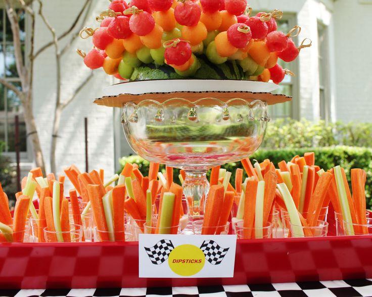 Race car theme birthday party; race car theme party decor ideas