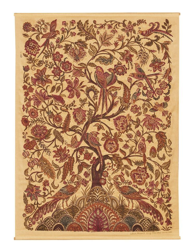 18th Century Tree Of Life Wall Hanging