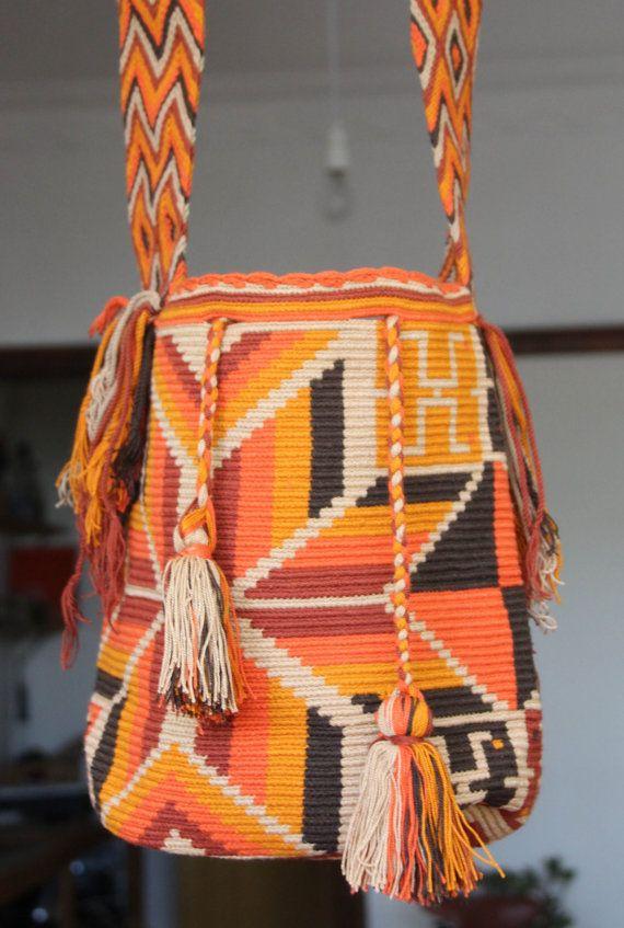 Wayuu Handmade Boho Tribal Mochila Bag by LoveFromKitty on Etsy