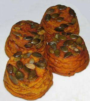 Bouchées au potimarron, sans caséine et sans gluten