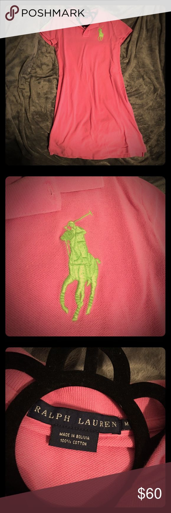 💖Pink Ralph Lauren Polo Dress💖 ✨👚Pink Ralph Lauren Polo Dress👚✨Size M✨Green logo and detailing✨Still Like New✨Only worn once✨Great Dress for work, golf, interviews, &great for any occasion or event✨No pilling or flaws✨Washed and ready to ship📦 Add to a bundle🛍 Always open to offers🤗✨ Ralph Lauren Dresses