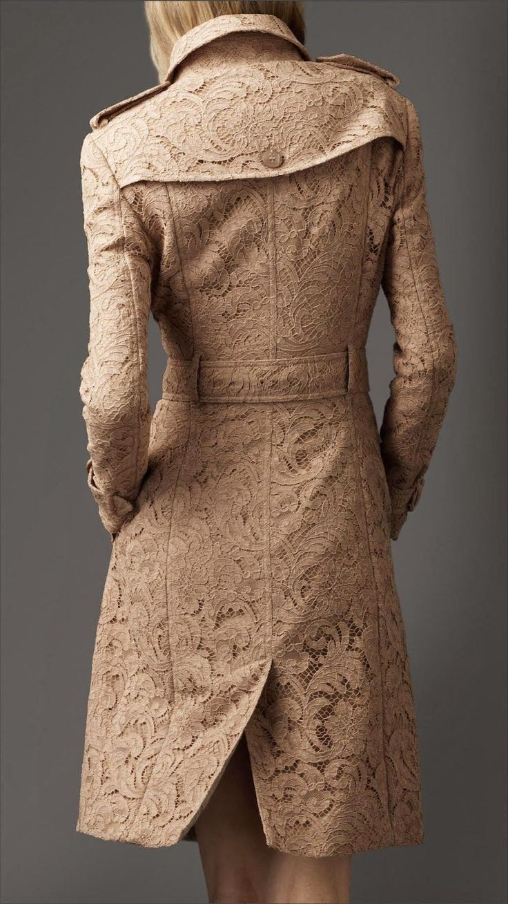 I'm TOTALLY diggin' this Gorgeous Long Lace Trench Coat...