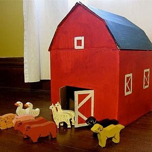 cardboard box play house - oh yeah this is happening